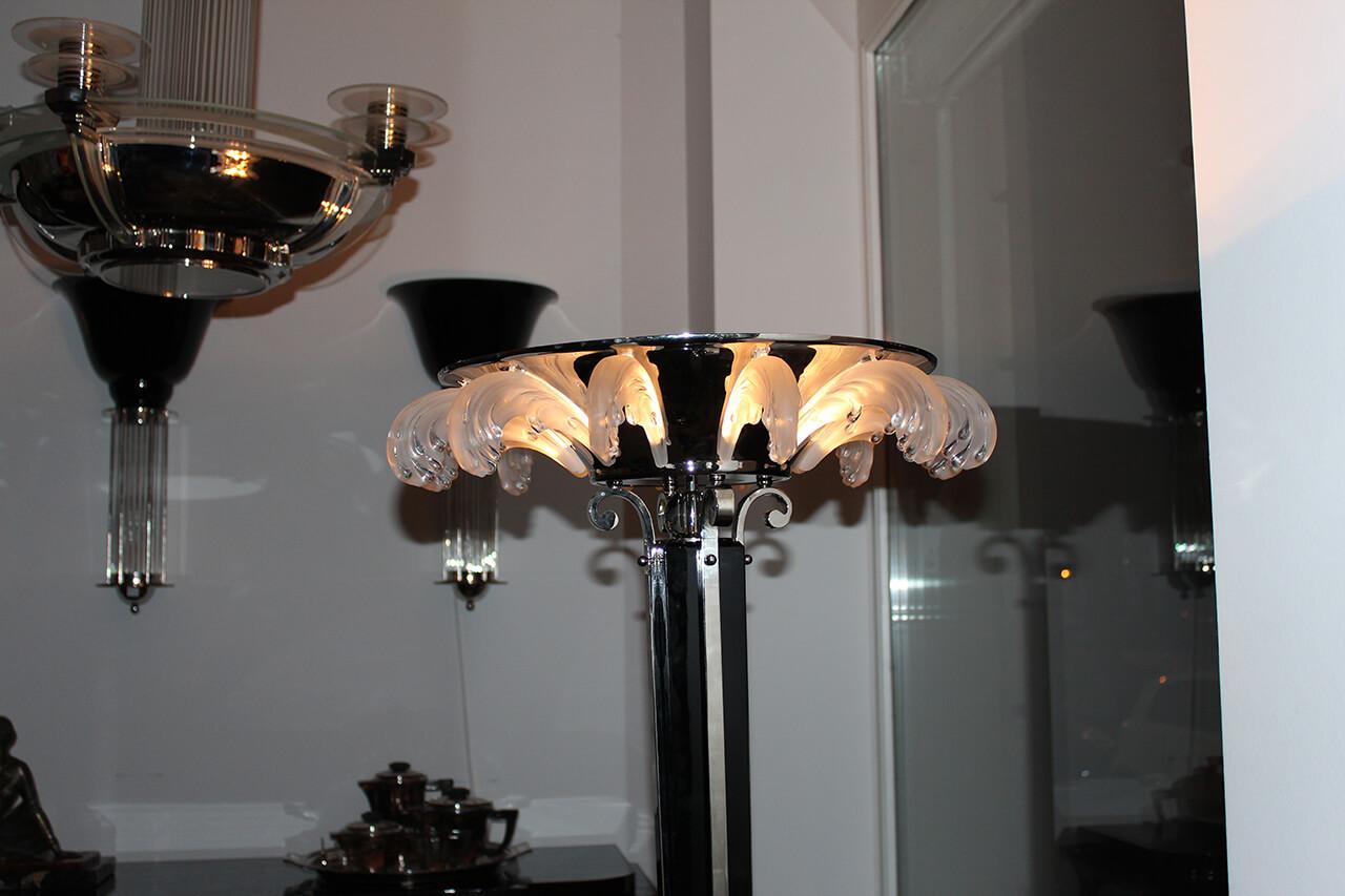 stehlampe in schwarzlack art d co annette stern art. Black Bedroom Furniture Sets. Home Design Ideas
