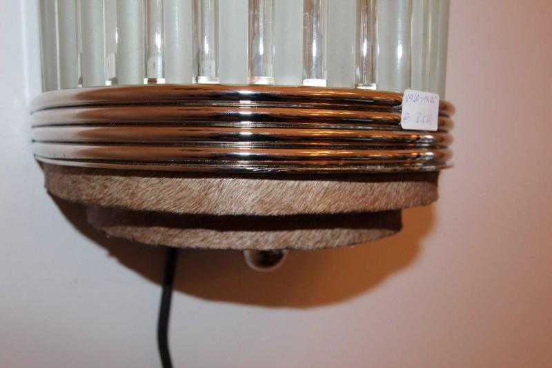 ausgefallene gro e wandlampe mit glasst ben art d co. Black Bedroom Furniture Sets. Home Design Ideas