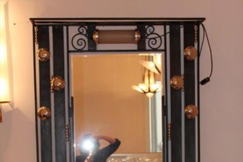 gro e schmiedeeiserne garderobe art d co annette stern. Black Bedroom Furniture Sets. Home Design Ideas