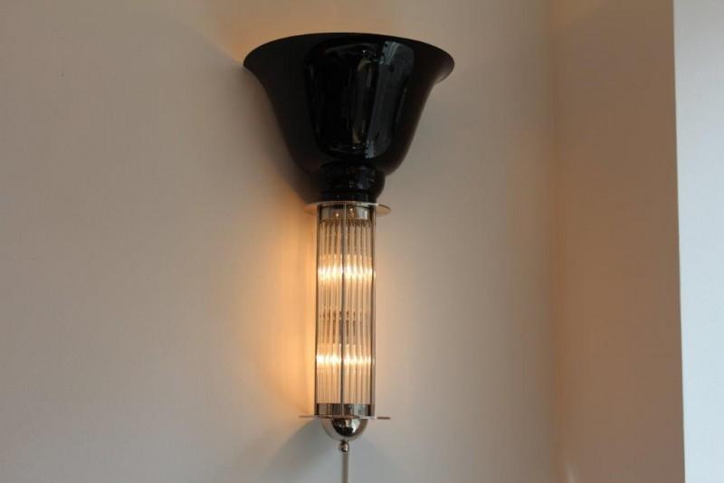ausgefallenes wandlampenpaar art d co annette stern. Black Bedroom Furniture Sets. Home Design Ideas