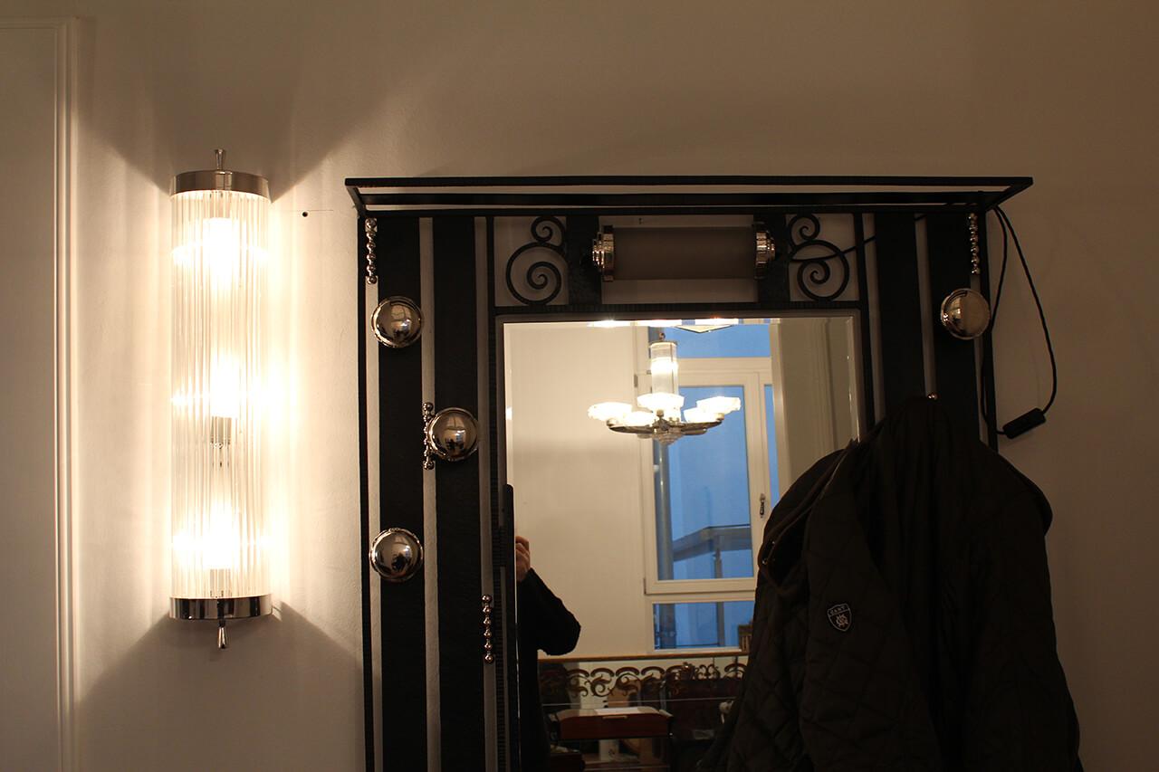 wandlampe mit glasst ben art d co annette stern art d co m bel lampen accessoires in mannheim. Black Bedroom Furniture Sets. Home Design Ideas