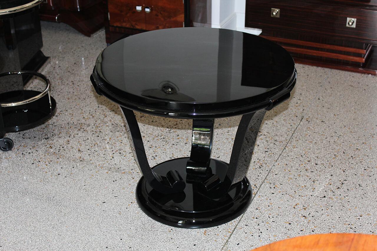 beistelltisch in tulpenform art d co annette stern art. Black Bedroom Furniture Sets. Home Design Ideas