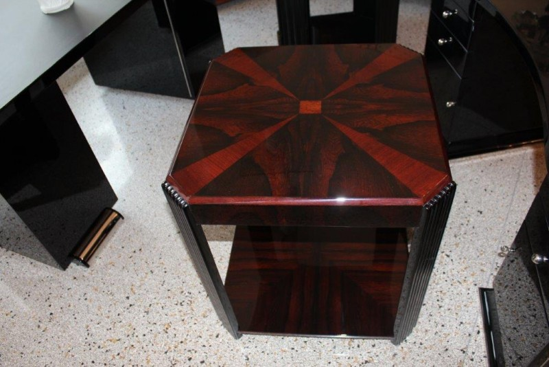 A Fine Brazilian Rosewood Coffee Table With Fluted Legs Art Deco Annette Stern Art Deco Furniture Lamps Accessories In Mannheim